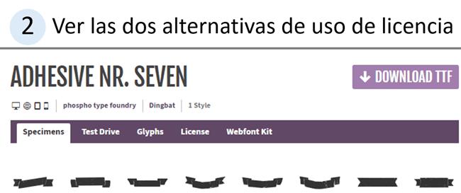 descripcion de las dos alternativas en licencia