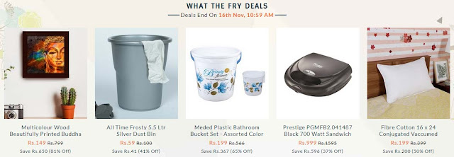 What The Fry Pepperfry Deals - 15th November 2018