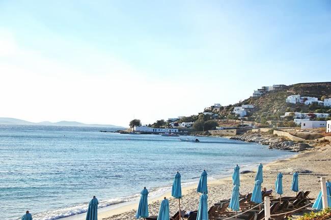St John beach Mykonos island