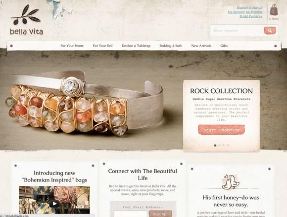 Mẫu web bán hàng phong cách cổ điển