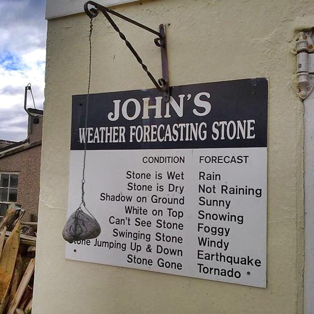 John's weather forcasting stone