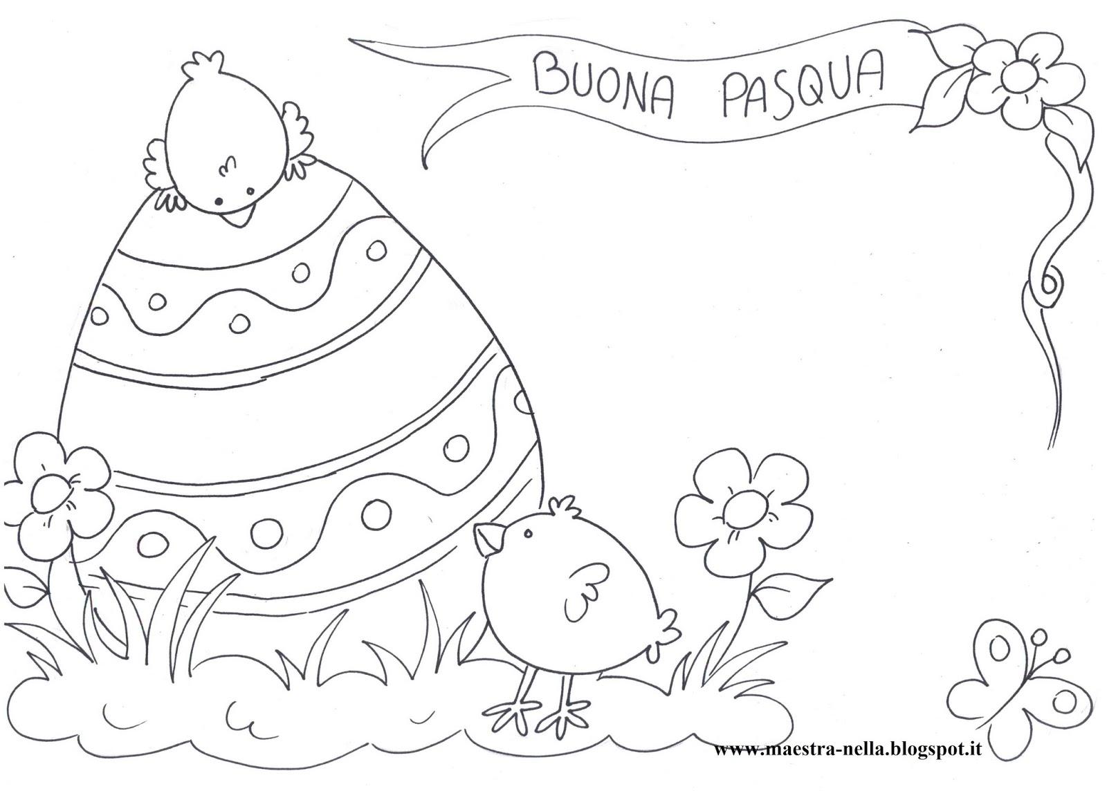 Preferenza maestra Nella: Pasqua-Disegni da colorare OK42