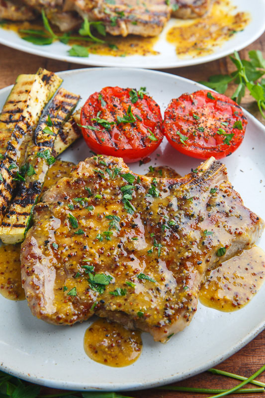 Honey Mustard Grilled Pork Chops Recipe | Closet Cooking