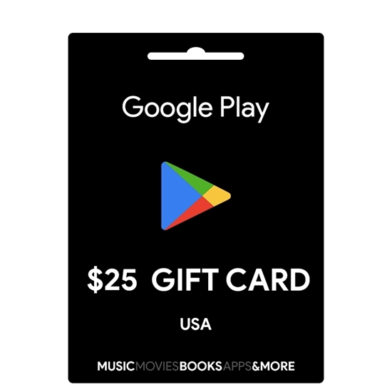 gift card google play store 25$ us 600.000 VNĐ