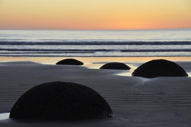 Moeraki boulders, Selandia Baru