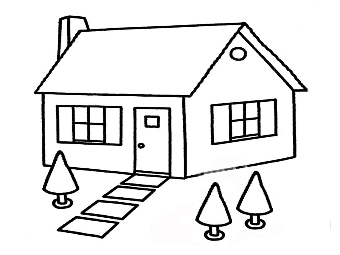 Pemandangan Gambar Rumah Sederhana Kartun