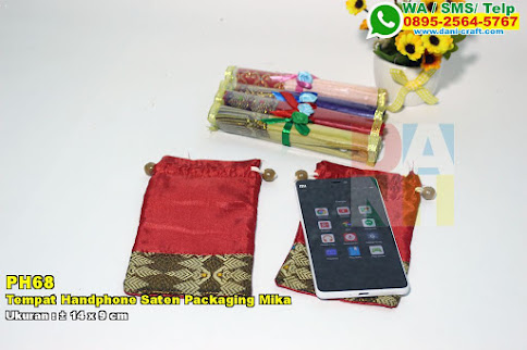 Tempat Handphone Saten Packaging Mika