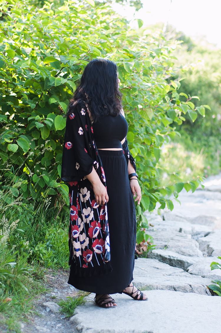 summer boho style, urban outfitters kimono, poppy kimono, floral kimono
