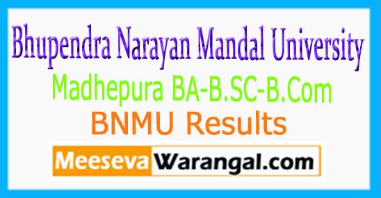 BNMU Madhepura 1st 2nd 3rd Year Exam Program Time Table 2017