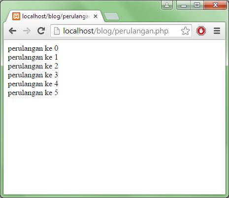 perulangan for di php arifweb