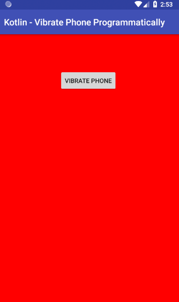 Android Vibrate Example