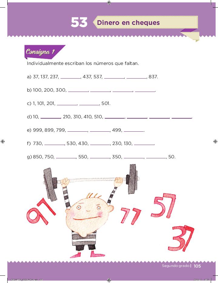 Dinero en cheques desafios matemáticos 2do bloque 5/2014-2015