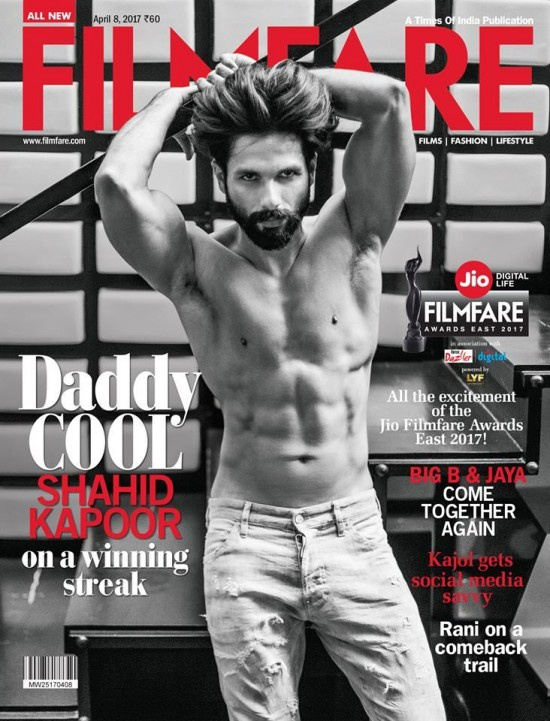 Shahid Kapoor On The Cover Of Filmfare Magazine April 2017