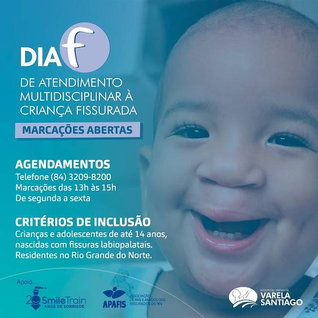 Hospital Infantil Varela Santiago terá Dia de Atendimento a crianças portadoras de fissura labiopalatal