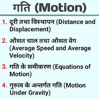 गति (Motion) के नियम के top 13 सूत्र - what is motion