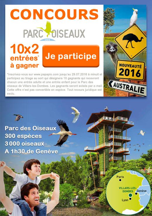 Concours : Parc des Oiseaux Villars-les-Dombes