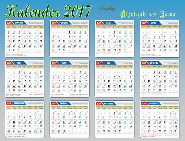 Kalender2017.pdf lengkap Hari Libur Nasional, Hijriah dan Jawa