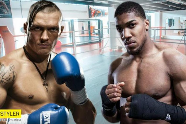 Oleksandr Usyk and Anthony Joshua Titles