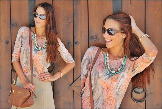 Glam Chameleon Jewelry handmade layered Sahara necklace