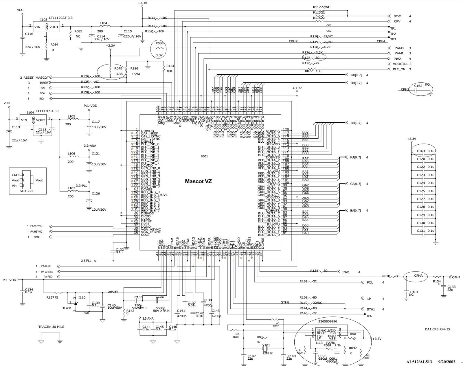 Aoc Al512 Aoc Al513 15 Inch Tft Lcd Monitor Circuit