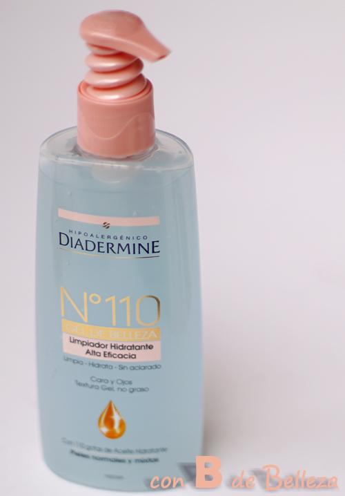 Limpiador gel Diadermine con aceites
