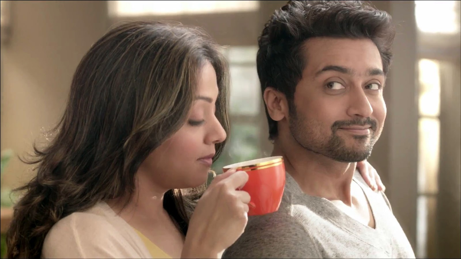 Actor Surya And Jyothika Coffee Add Images In HD - Actor ...