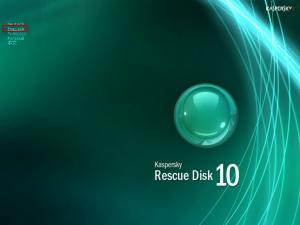 hilangkan virus dengan Kaspersky rescue disk