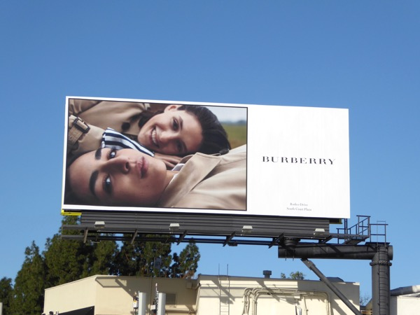 Burberry Spring 2017 fashion billboard