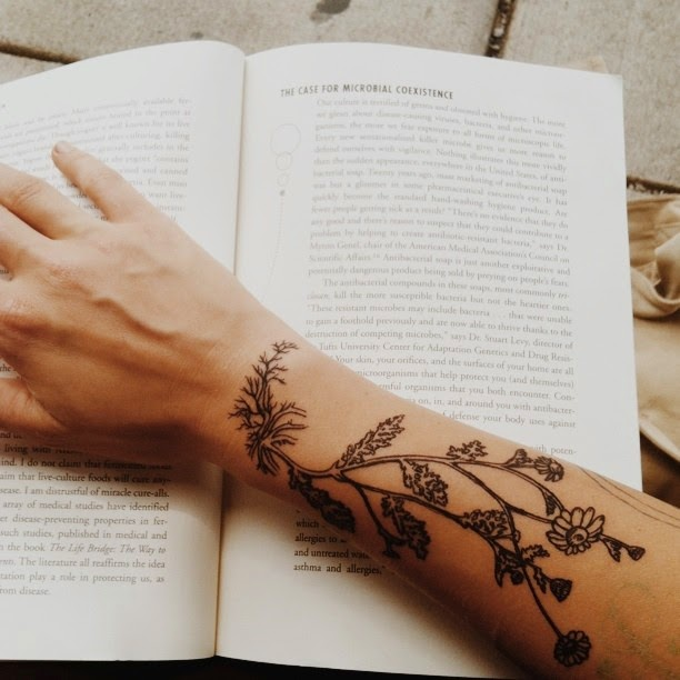 Chamomile Tattoo, Botanical Tattoo,
