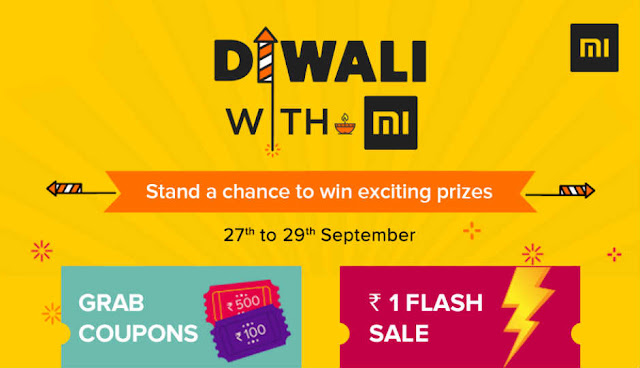 Xiaomi product purchased only in 1 rupees mi diwali sale offer 2017