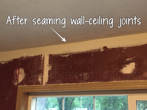 after seaming wall-ceiling joints