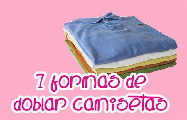 7 formas de doblar las camisetas