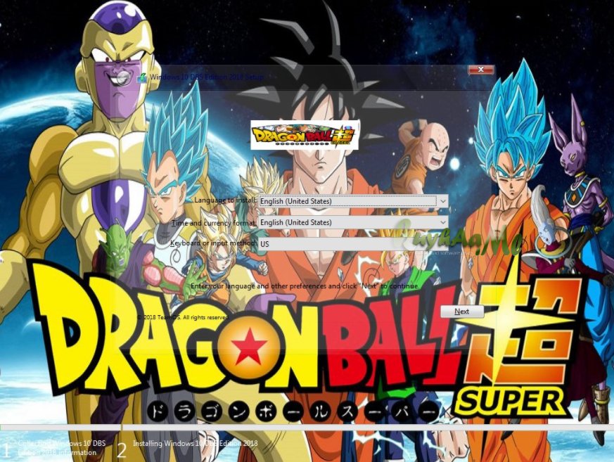 Windows 10 Dragonball Super Edition 2018
