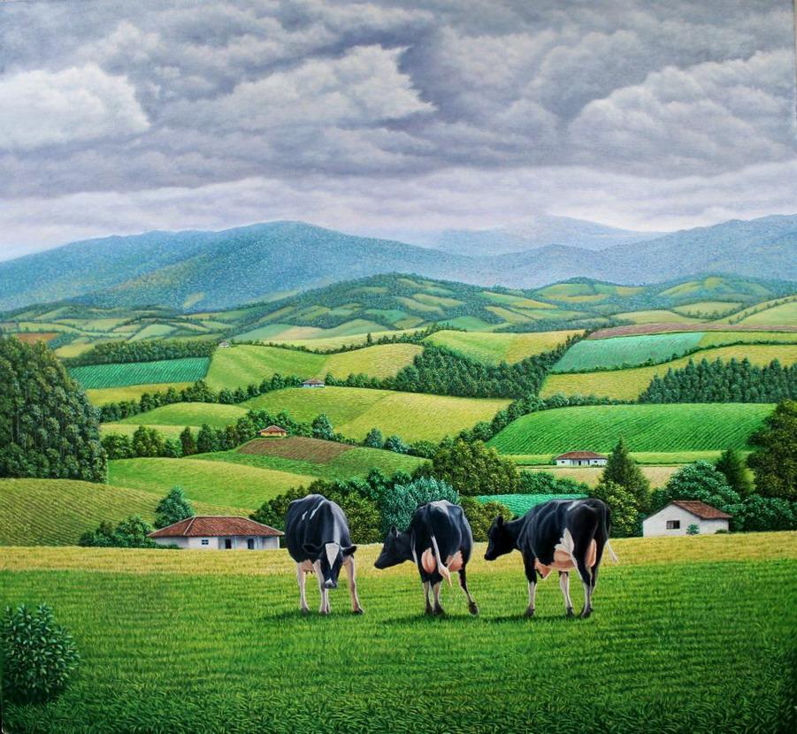 Pintura moderna y fotograf a art stica cuadros de - Cuadros de vacas ...