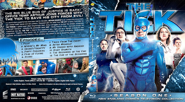 The Tick Season 1 Bluray Cover