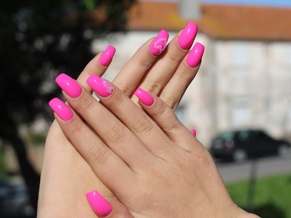 As minhas unhas - Rosa com Pérolas  #15