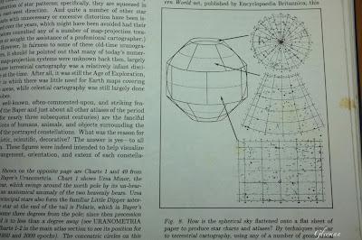 把天球分割成許多區域來標示的星圖