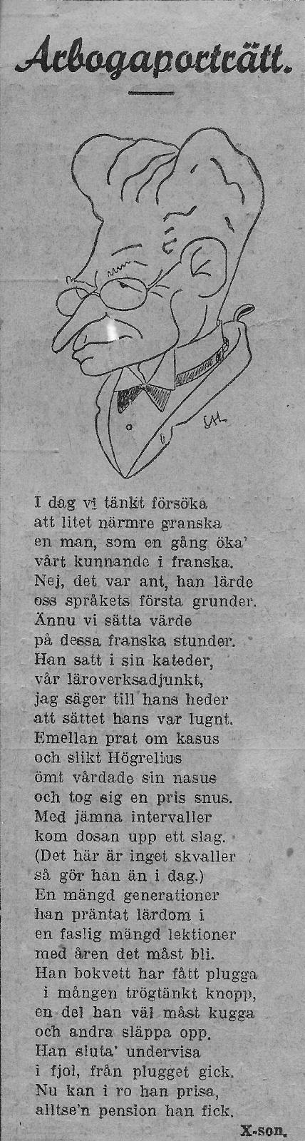 Min farfar Viktor Högrelius i Arboga