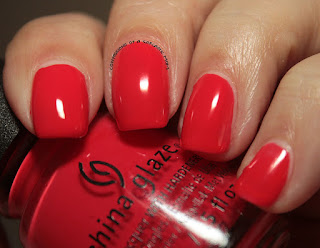 China Glaze Lite Brites Hot Flash