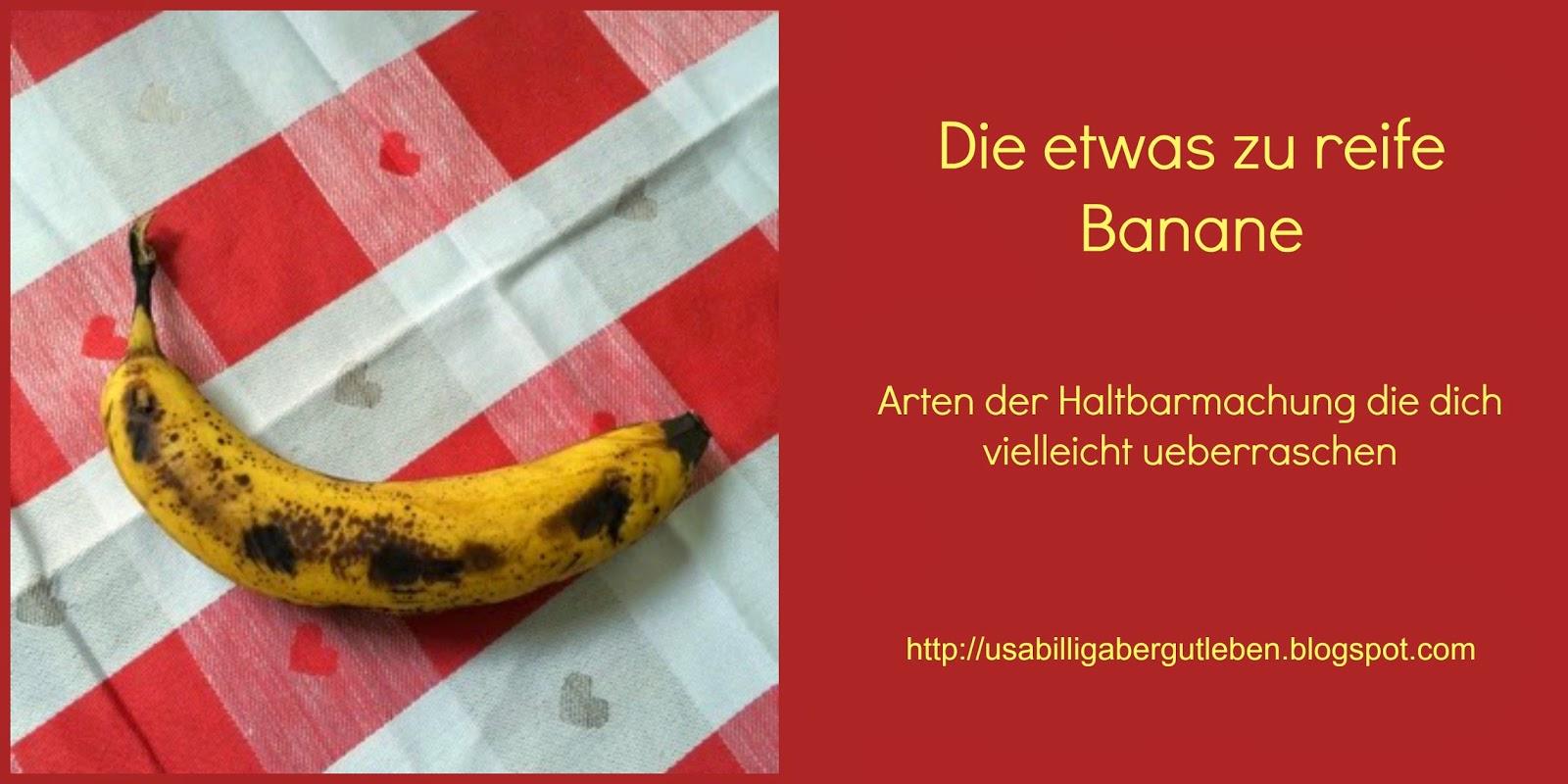 Bananen einfrieren