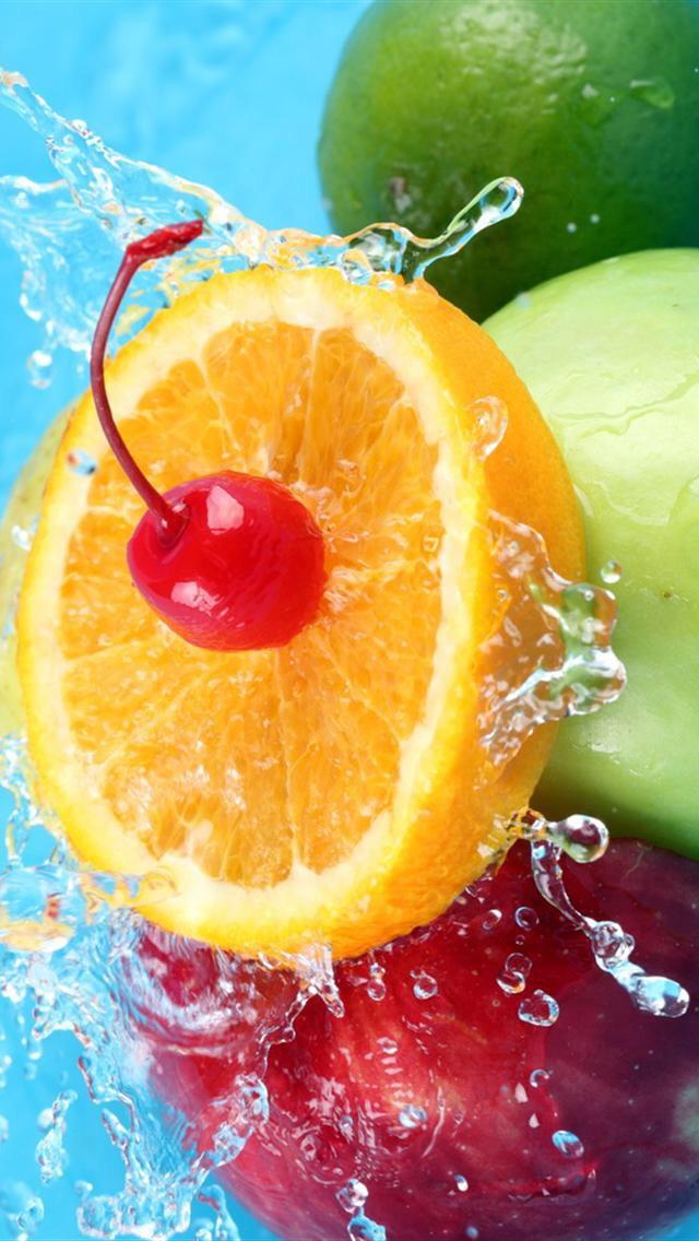 картинки фрукты в воде вертикальные одном