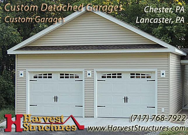 Detached Garage Built In Lancaster Pa: Harvest Structures: Amish Built Garages Custom Made In