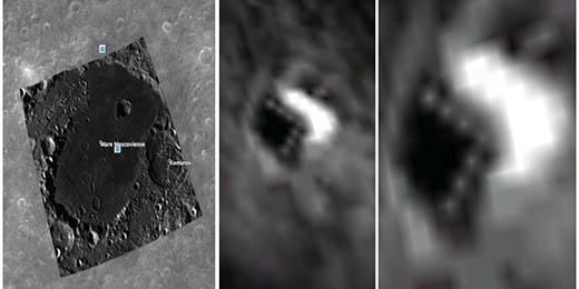 La nave triangular se encuentra en uno de los cráteres más extraños