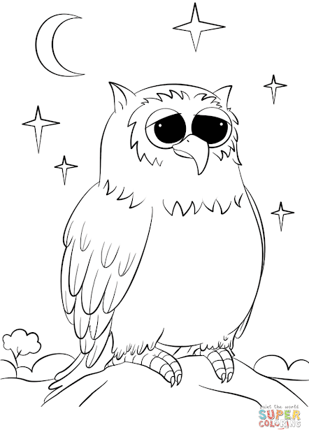 Click The Cute Cartoon Owl Coloring Pages To View Printable Version Or Color  It Online Patible With Ipad And Android Tablets