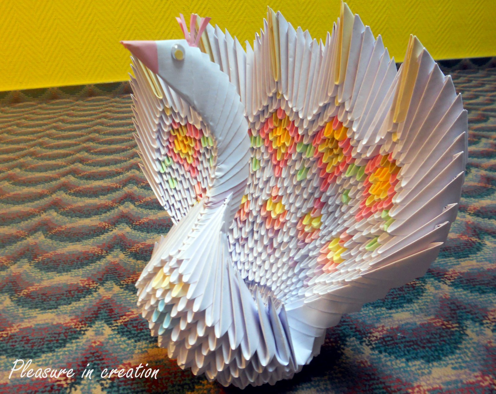 3d Origami Peacock Instructions - photo#27