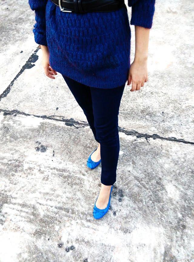 mango bow blue ballerina ,style blogger
