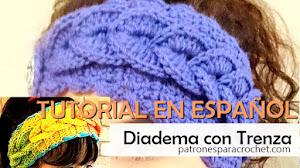 Diadema o Vincha con Trenza en Relieve a Crochet / Tutorial en Español