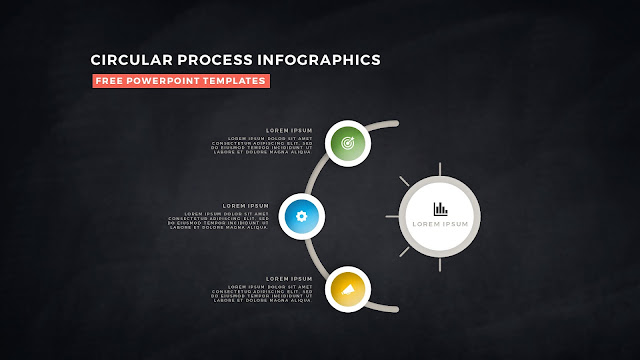 Circular Process Diagram Infographic Free PowerPoint Template Slide 8