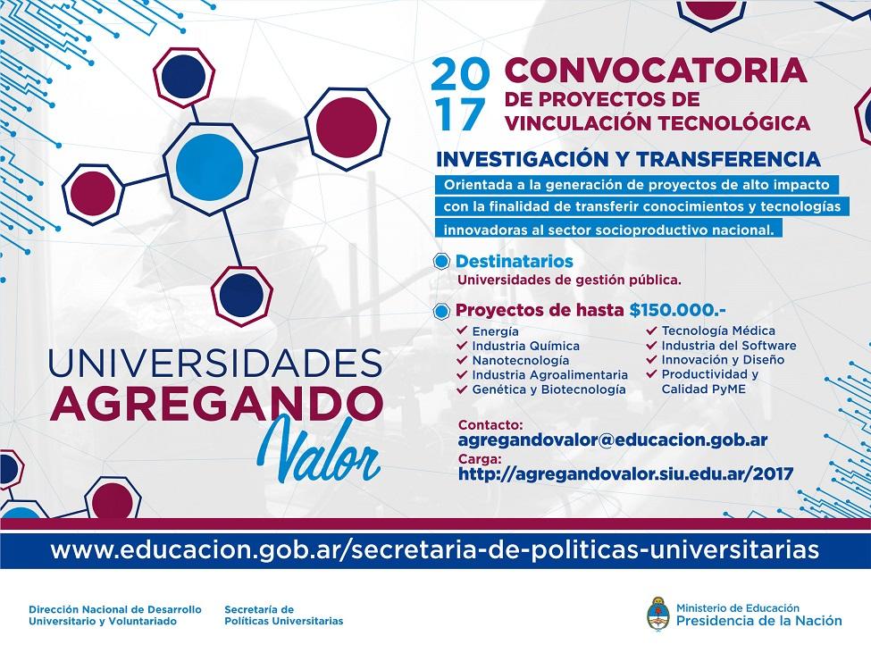 Educaci n y docentes universidades agregando valor 2017 for Convocatoria de docentes 2017