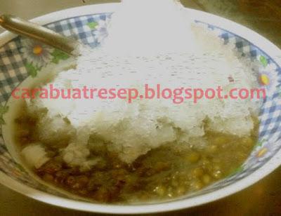 Foto Resep Es Bubur Kacang Hijau Lembut Susu Kental Manis Sederhana Spesial Asli Enak